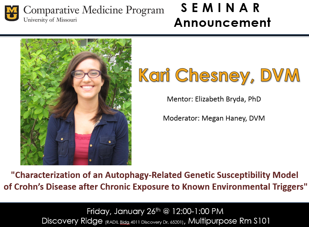 Seminar - Kari Chesney, DVM @ Discovery Ridge S101