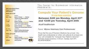 Compute Your Patient's Genome @ Acuff Auditorium – MA217 Medical Sciences Building