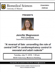 Seminar - Jennifer Magnusson @ W235 Veterinary Medicine Building