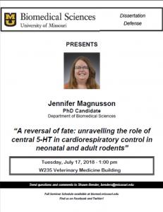 Seminar - Jennifer Magnusson @ W235 Veterinary Medicine Building