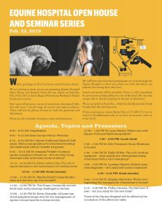 MU VHC Equine Hospital Open House and Seminar Series