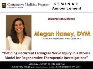 Seminar - Megan Haney, DVM @ Discovery Ridge S101