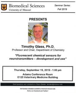Seminar - Timothy Glass, PhD @ Adams Conference Center