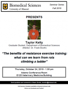 Seminar - Taylor Kelty, Graduate Student @ Adams Conference Center