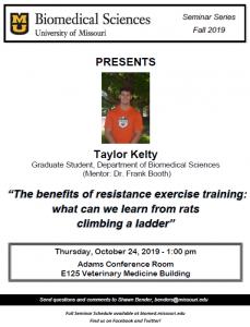 Seminar - Taylor Kelty, Graduate Student @ Adams Conference Center