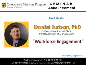 Seminar - Daniel Turban, PhD @ Discovery Ridge S101