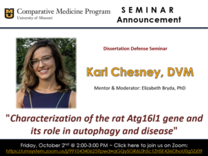 Seminar - Kari Chesney, DVM @ Zoom