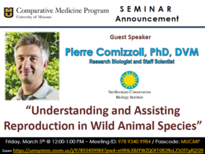 Seminar - Dr. Pierre Comizzoli @ Zoom