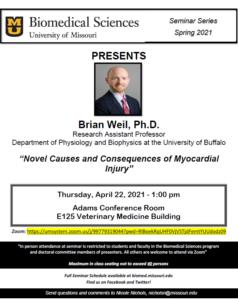 Seminar - Brian Weil, PhD @ Adams Conference Room