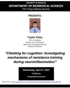 Seminar - Taylor Kelty @ Zoom