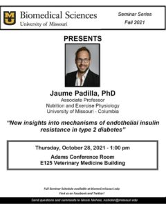 Seminar - Jaume Padilla, Ph.D. @ Adams Conference Room