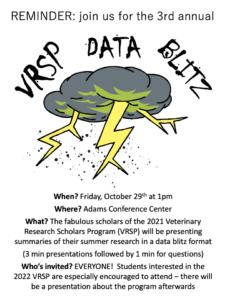 VRSP Data Blitz @ Adams Conference Room
